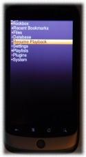 [Rockbox main menu]