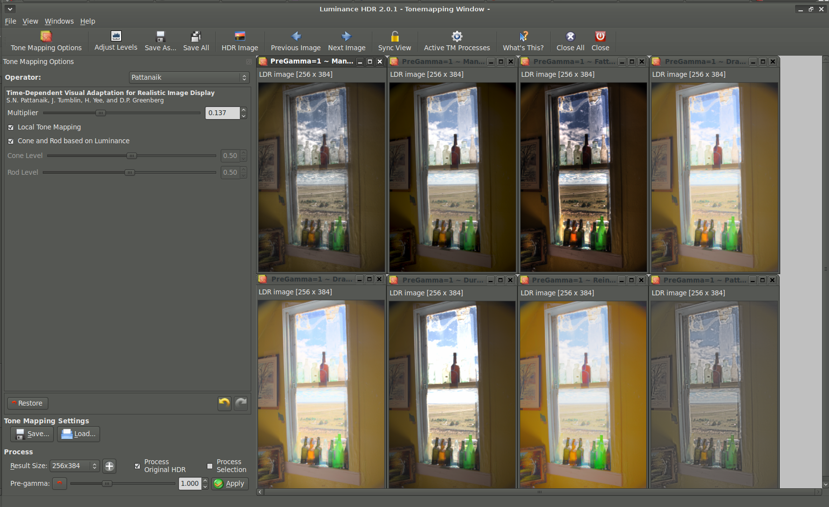Luminance HDR 2 0 1, an improved, but still trying, photography tool