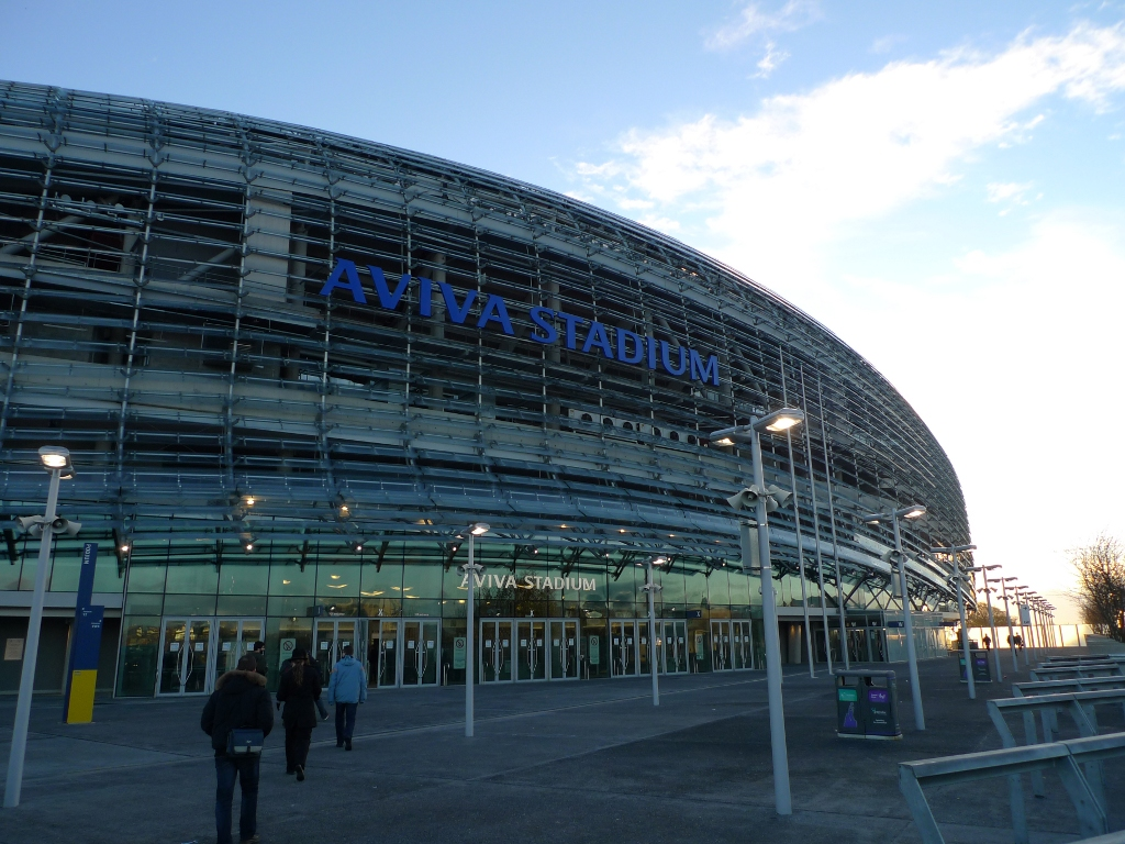 Outside Aviva stadium - site of the 2010 MeeGo conference [LWN.net]