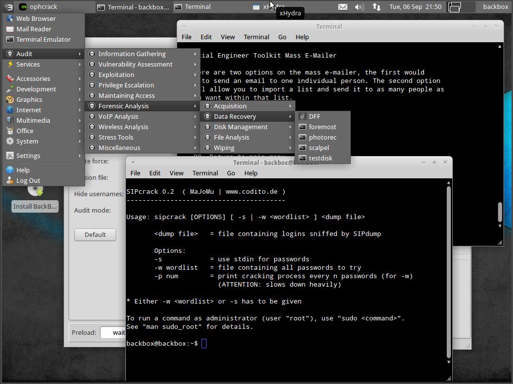 04 Май : 17:15 BackBox Linux - это дистрибутив Linux на базе Ubuntu, создан