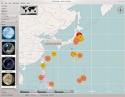 [Earthquake map]
