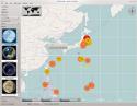 [Earthquake map]