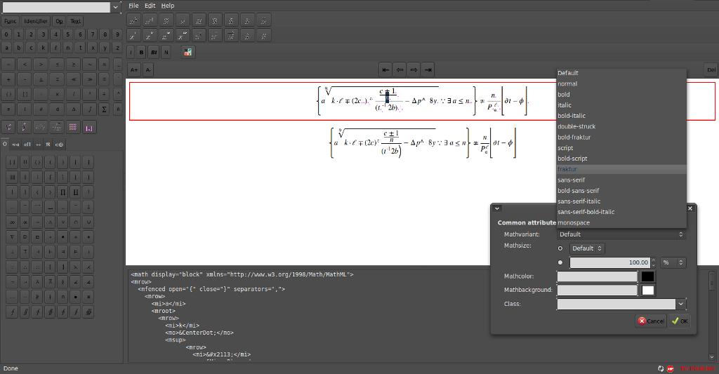 Mathml Editor