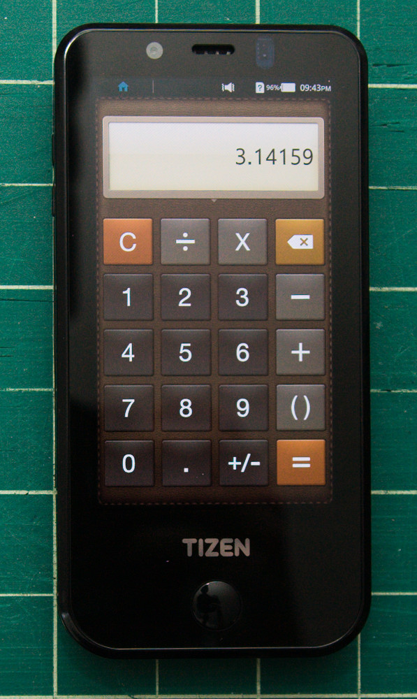 [Tizen developer device calculator app]
