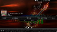 [XBMC home screen]