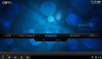 [XBMC v12 on Android's main menu]