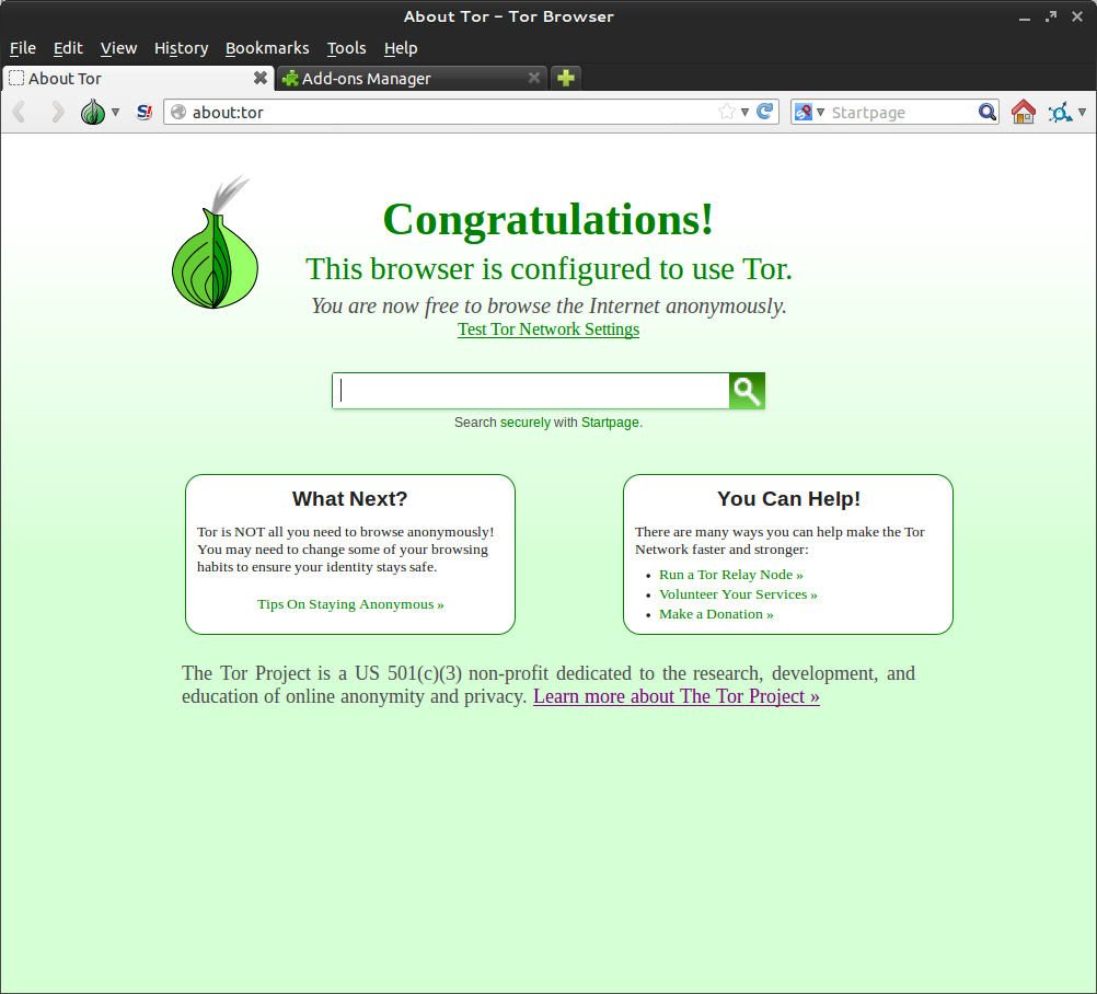 the tor project browser