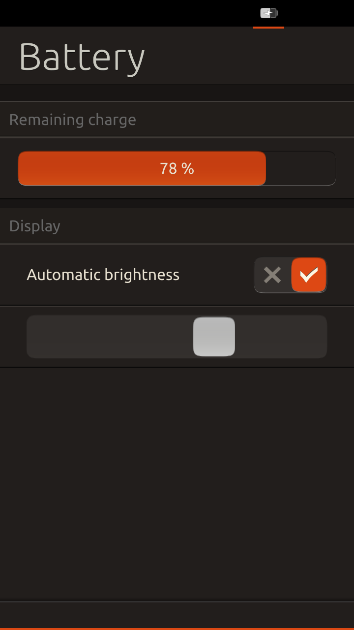 [Ubuntu Touch battery screen]