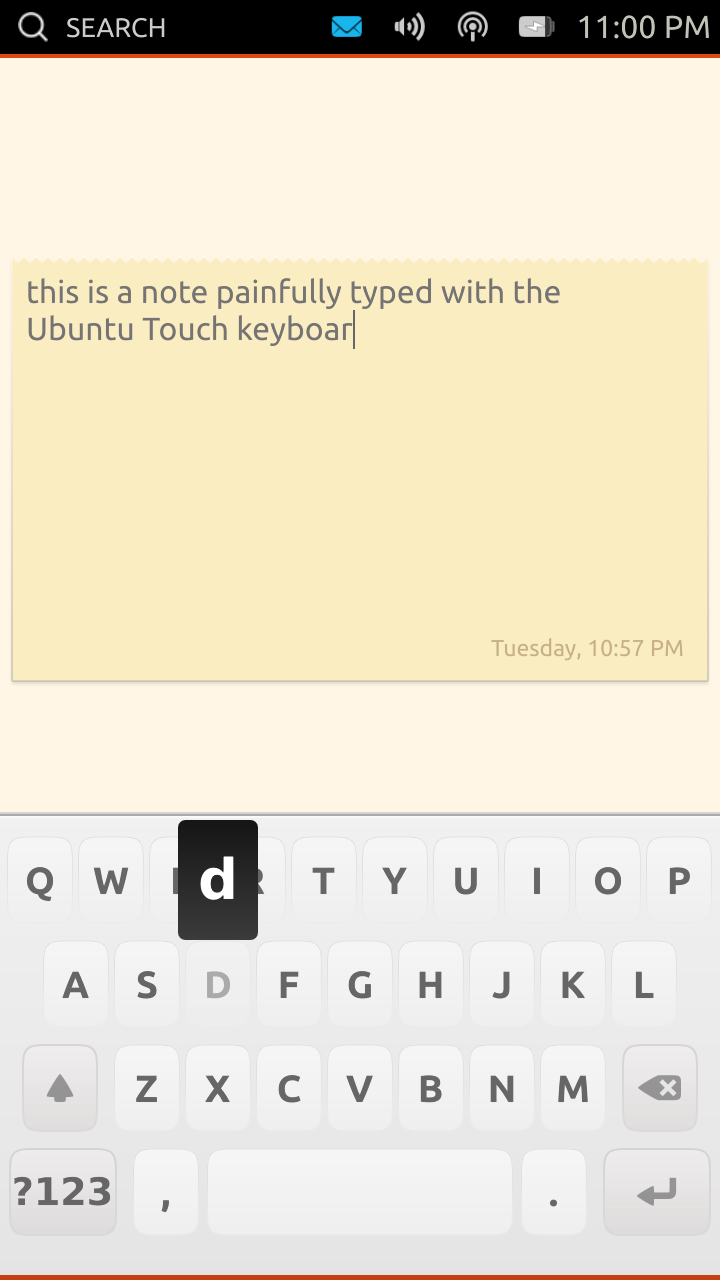 [Ubuntu Touch keyboard]