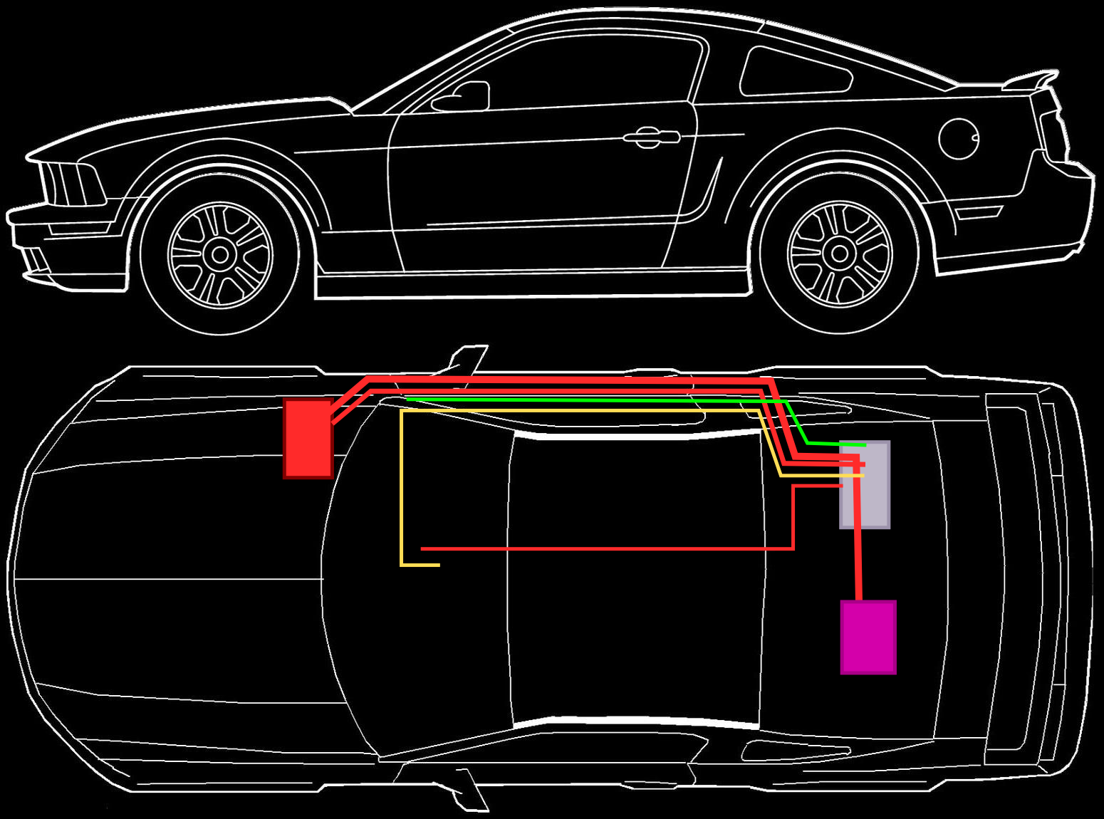 images of basic car wiring wire diagram images inspirations the basic wiring of the components in the ivi test car the red the basic wiring of the components in the ivi test car the red