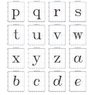 [Hershey font sample]