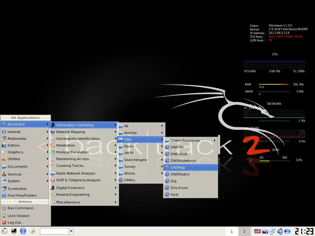BackTrack screenshot
