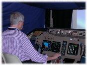 [747 Cockpit simulation]