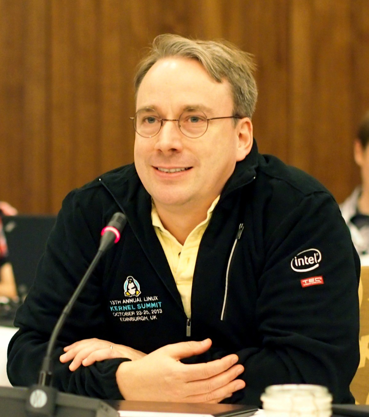 Linus Torvalds at the 2013 Kernel Summit [LWN.net]