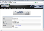 [FreeNAS web interface]