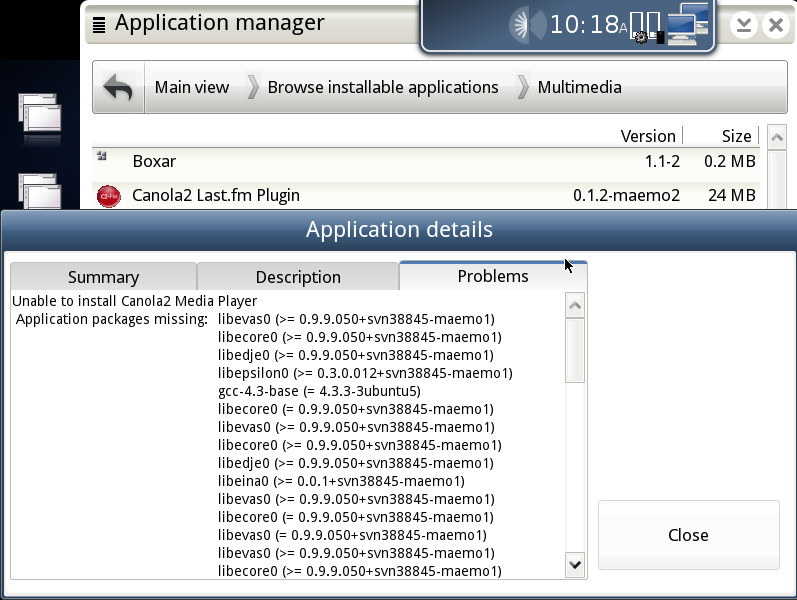 [Mer application manager]