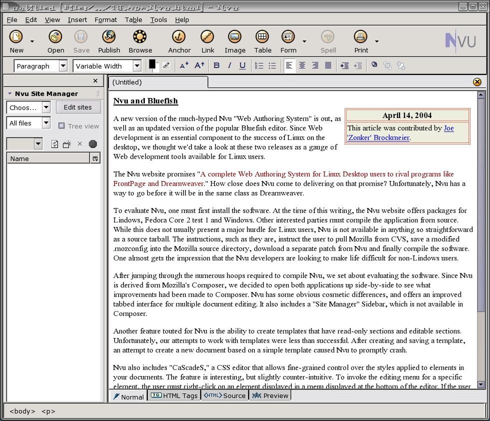 Magnificent Nvu Templates Ideas - Professional Resume Example ...