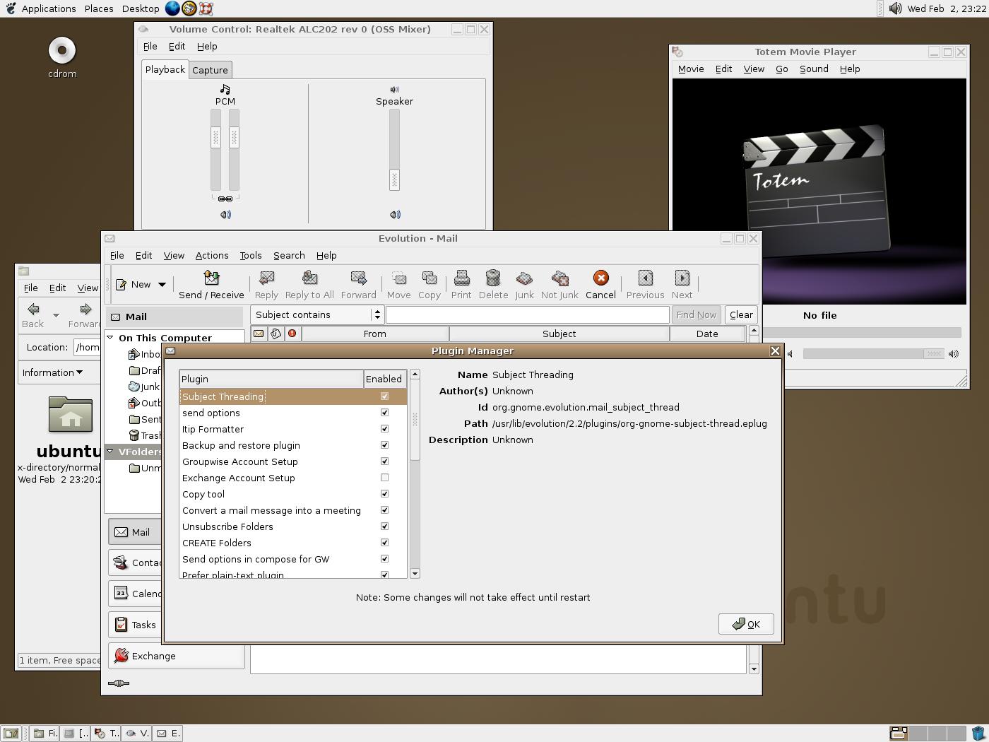 [GNOME 2.10 beta screenshot]