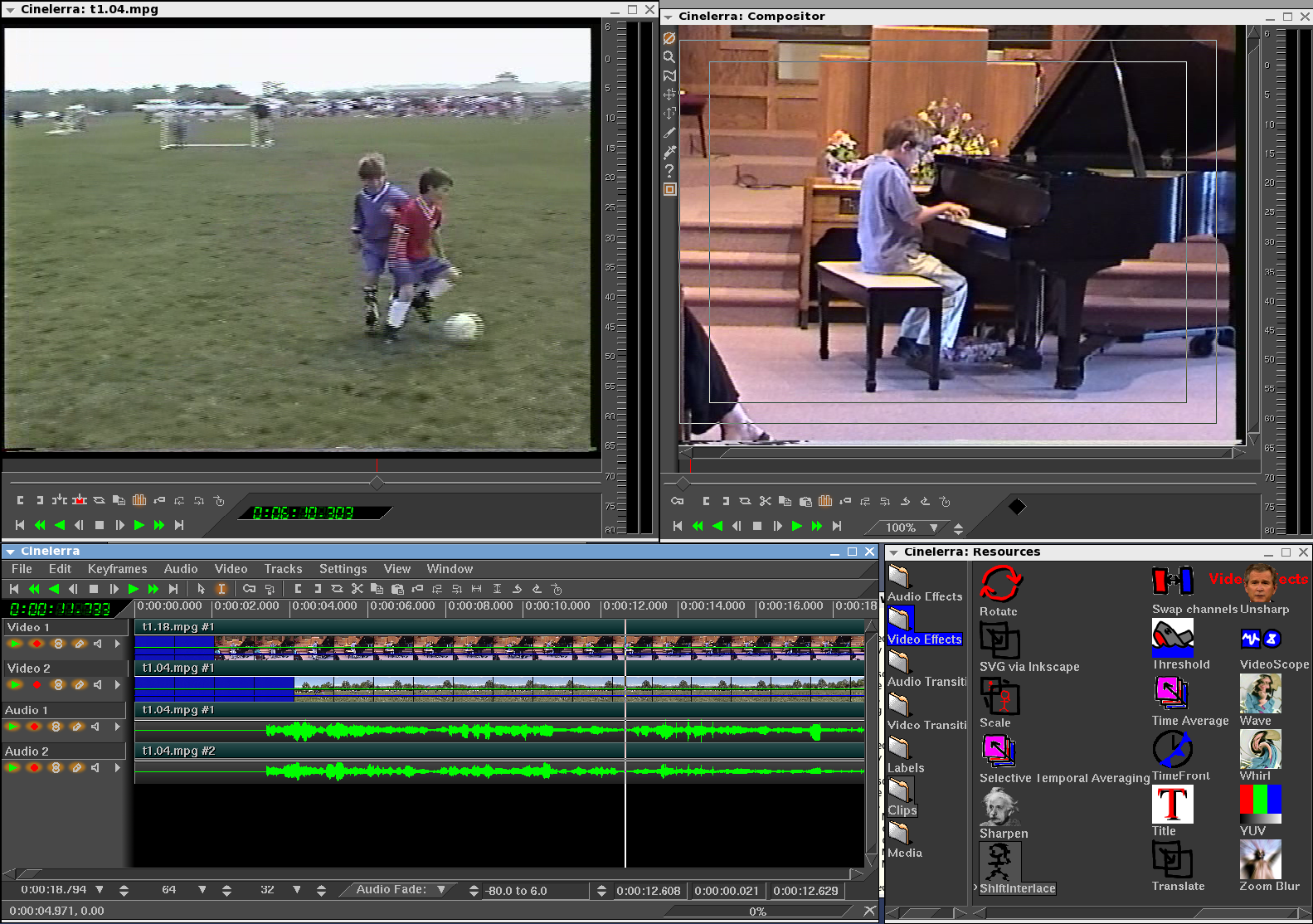 The Open Source School Cinelerra Open Source Video Editing