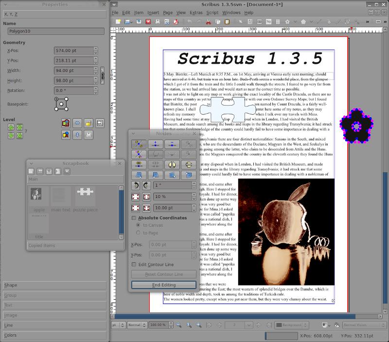 a sample document in scribus 1 3 5  lwn net